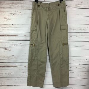 Tory Burch Cargo Style Pants, Gold Hardware RARE